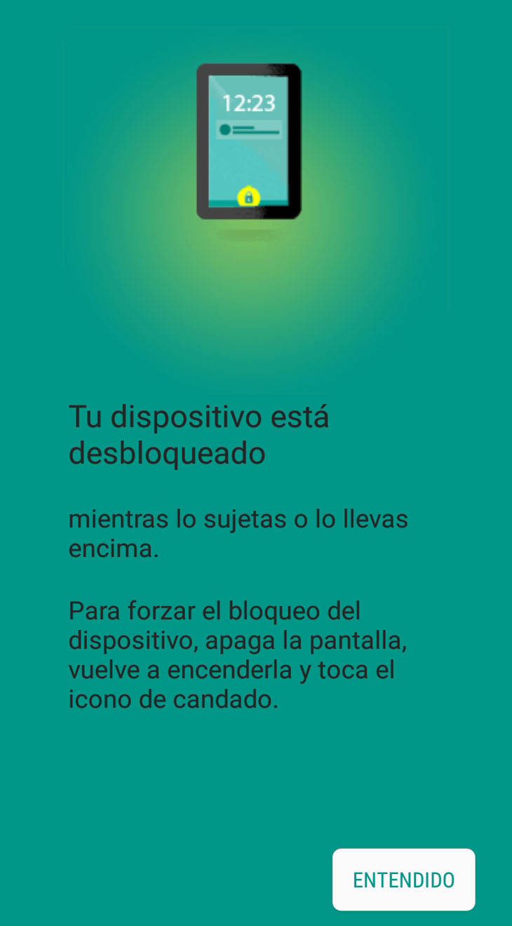 deteccion corporal smart lock