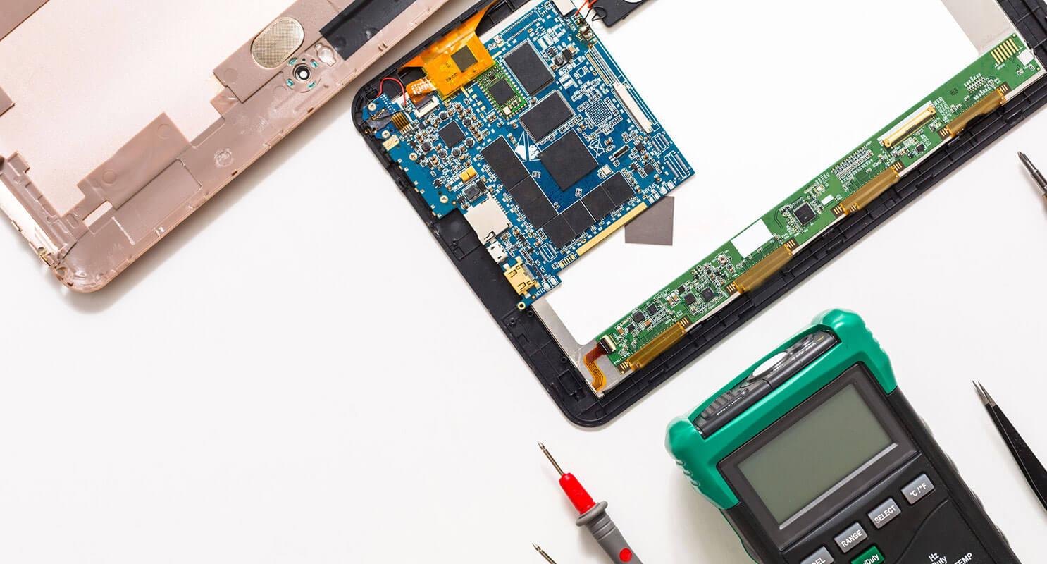 reparación de tablet componentes