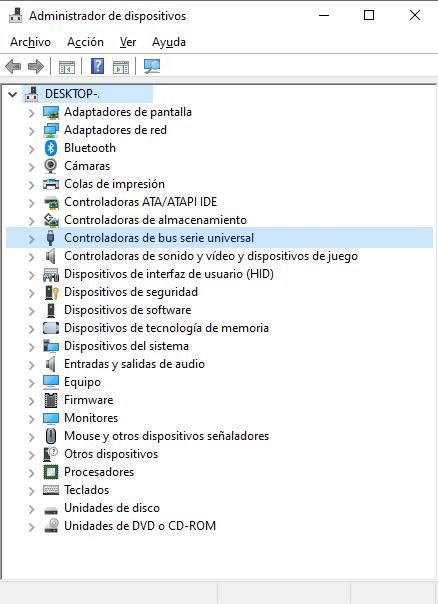 administrador dispositivos si mi ordenador no reconoce mi iphone