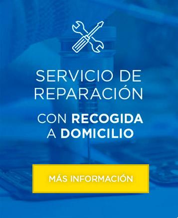 Servicio de reparación con recogida a domicilio