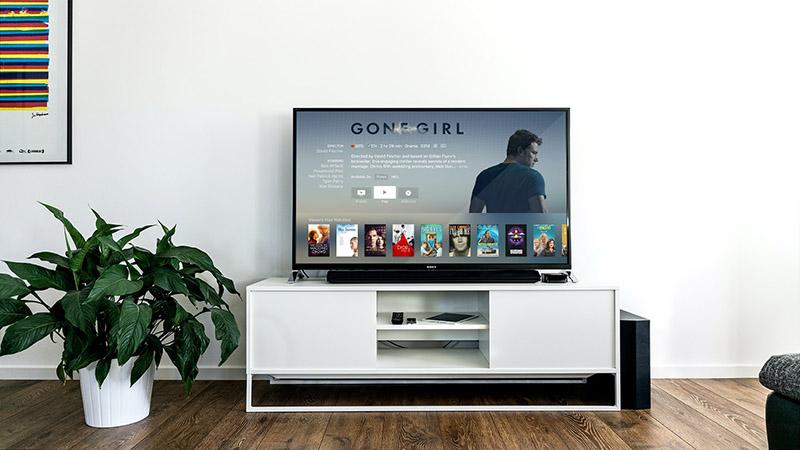 imagen de un televisor donde hay proyectada alguna serie