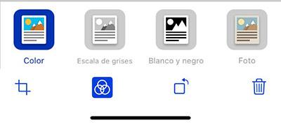 edición escaneado iphone