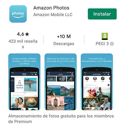 amazon photos, alternativa a google fotos