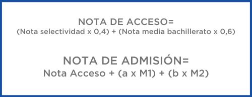 formula nota de acceso a grado universitario
